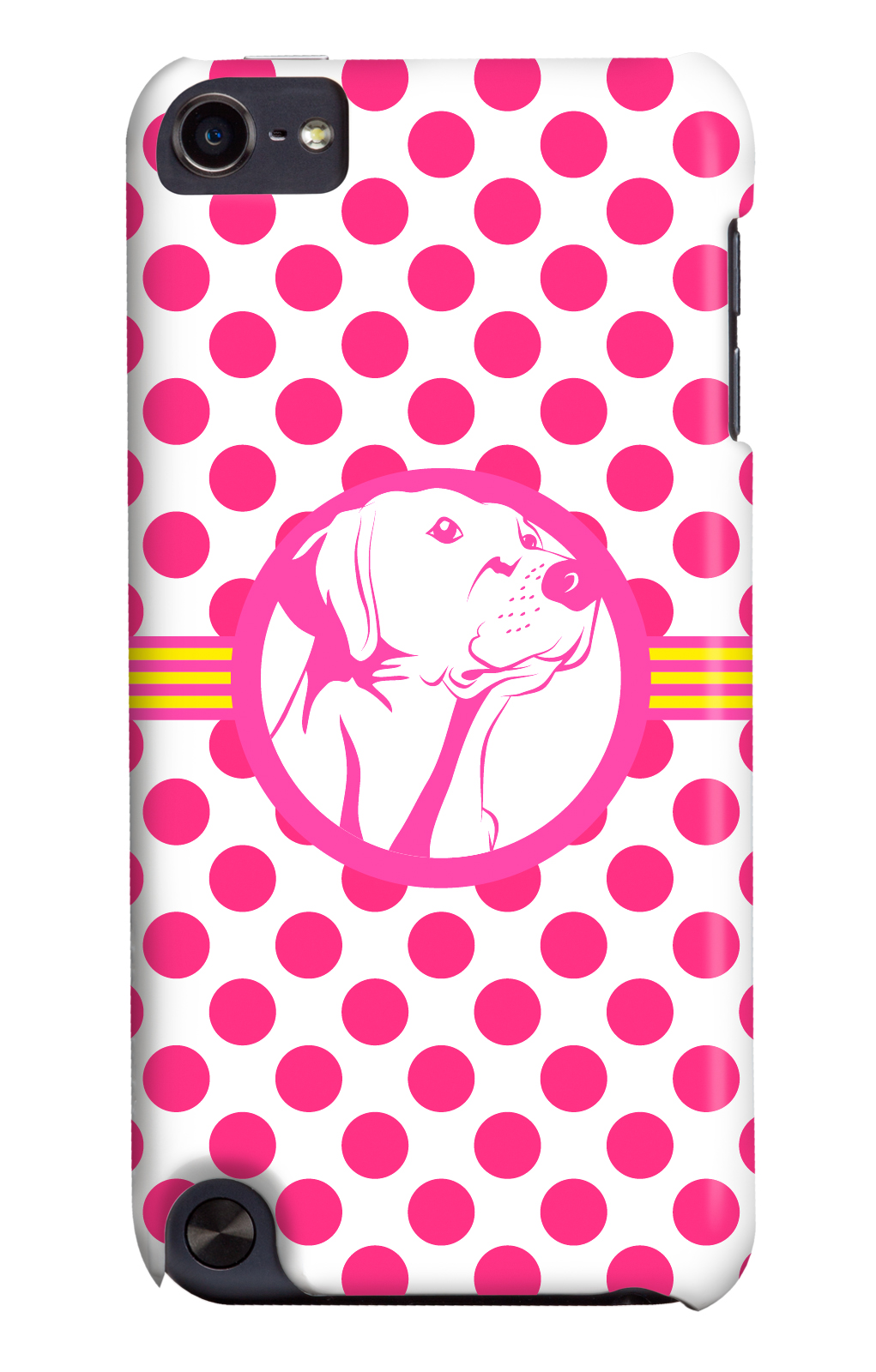It's a Lab Thing 3 Shades of Dog pink polka and orange iphone cases