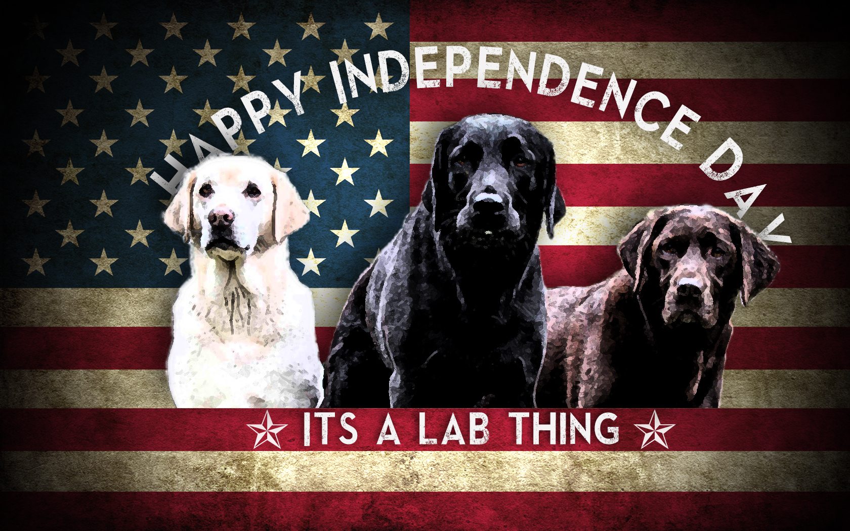 grunge_american_flag_Labrador It's a Lab Thing